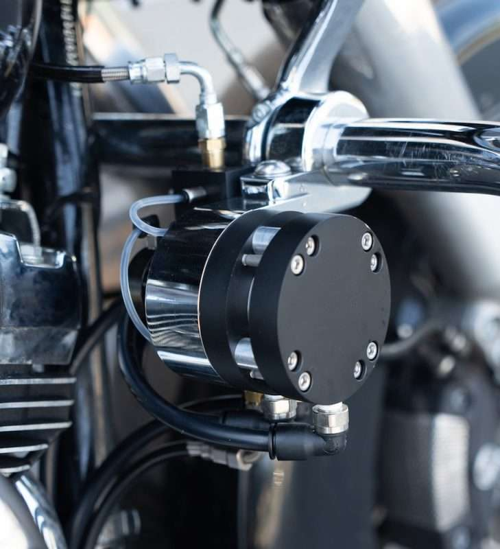Feather Lever Installed on Harley